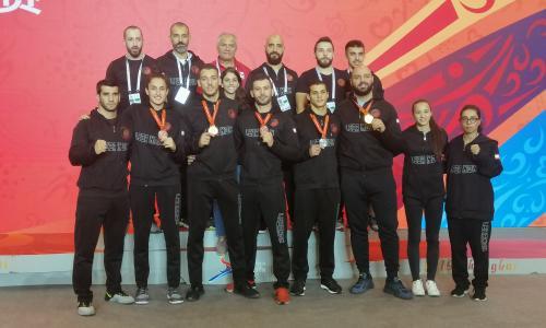 medals for the national sanda team