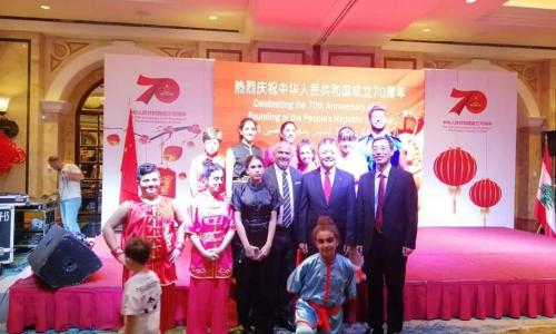 celebrating the 70 aniversary of the chinese poeple of china